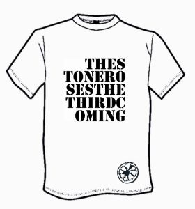 MENS THE STONE ROSES `THE THIRD COMING` T-SHIRT.